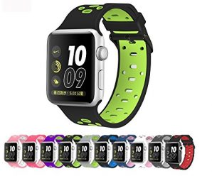 Apple Watch Silicone Replacement Band, Sport Edition by Pantheon,Strap fits the 38mm or 42mm Apple Watch 1, 2, 3 and Nike edition – Square Hole