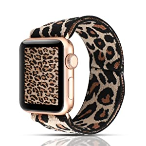 Cheetah animal printed apple watch band 40mm 44mm 42mm 38mm