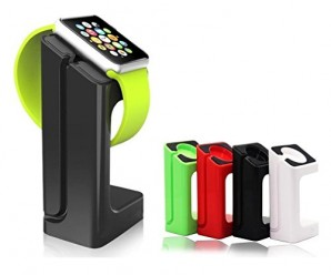 Apple Watch Stand,Bluesim® Apple Watch Charging Dock / Station / Platform iWatch Charging Stand Bracket Docking Station Holder for 2015 Apple Watch [38mm and 42mm] – Compatible with Both Models (Black)