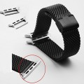 Apple Watch Band W Metal Clasp,E-fashion 38mm Milanese Loop Stainless Steel Mesh Replacement Strap Wrist Band for Apple Watch & Sport & Edition for Apple Watch & Sport & Edition-Black