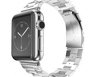 Apple Watch Strap, Oittm Stainless Steel Metal Replacement Strap Wrist Band Classic Polishing Apple iWatch Strap with Double Button Insurance Folding Clasp for Apple Watch (42mm)