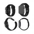 Apple Watch Band, Mkeke@ Apple Watch Sport Silicone Band with Staineless Apple Watch Connector, 42mm Stainless Steel Case with Black Apple Watch Sport Band Rohs Material, Won't Hurt Skin (Staineless Steel/silicone 42mm Black)