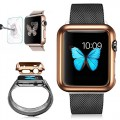 Apple Watch Case, G-Case [Free] Series High Quality Light Weight Thin Ultra Fit Plating PC Protective Shell Bumper Case For iWatch Apple Watch 42MM + TJS Tempered Glass Screen Protector (42MM Gold)