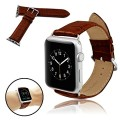 Infiland Apple Watch Band, Premium Leather Strap Wrist Band Replacement for Apple Watch 38mm Models With Adapter, Easy to install (CROCO model – Brown)