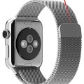 Apple Watch Band,Kartice(TM) Stainless Steel Magnetic Closure Clasp Bracelet Metal Smart Watch Band Strap For Apple Watch iWatch With Metal Adapter Clasp,Milanese Loop Stainless Steel Mesh Replacement Wrist Band for Apple Watch & Sport & Edition 42mm