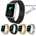 Apple Watch Band,Teslasz® 42 mm Stainless Steel Replacement Smart Watch Band Link Bracelet with Double Button Folding Clasp for 42 mm Apple Watch All Models (Black)