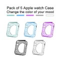 All-inside (Pack of 5 Colors) Apple Watch Case Crystal Clear Soft TPU Cover for Apple Watch 38mm Version (2015)