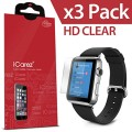 iCarez® For Apple Watch / Apple Watch Sport / Apple Watch Edition (38MM Only) [HD Clear] Highest Quality Premium Screen ProtectorHigh Definition Ultra Clear Anti Bacterial Bubble Free Reduce Fingerprint Screen Protector **PET Film Made in Japan** Easy Install With Lifetime Replacement Warranty [3-Pack] – Retail Packaging 2015