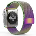 Apple Watch Band, with Unique Magnet Lock, MoKo Milanese Loop Stainless Steel Bracelet Smart Watch Strap for iWatch 38mm All Models, No Buckle Needed – Colorful (Not Fit iWatch 42mm Version 2015)
