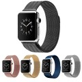 Apple Watch Band,Teslasz? 42mm Mesh Replacement Strap Stainless Steel Milanese Loop Strap Magnetic Buckle Wrist Band for Apple iWatch All Models (Black 42 MM)