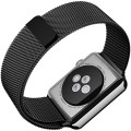 Apple Watch Band, Maxboost Plexus 42mm Milanese Loop Stainless Steel Mesh Bracelet Strap Accessories for Apple Watch All Models (Magnetic Closure, No Buckle Needed) – Black Space Gray