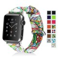 Apple Watch Band, Fintie (38mm) Premium Leather Strap Wrist Band Replacement with Stainless Metal Clasp for Apple Watch 38mm All Models, Love Tree