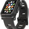 LUNATIK EPIK Polycarbonate Case and Silicone Strap for Apple Watch, Black/Black