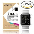 Apple Watch Screen Protector 38mm, Pajuva® 0.2mm 9H HD Ultra Clear Tempered Glass Screen Protector (3-Pack)