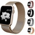 top4cus Apple Watch Band 42mm Double Plating Milanese Fully Magnetic Closure Clasp Mesh Loop Stainless Steel iWatch Band Replacement Bracelet Strap for Apple Watch 42mm Model- Gold
