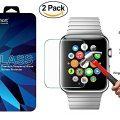 Amazingforless Premium [2 Pack] 42mm Apple Watch Anti-Scratch Tempered Glass Screen Protector