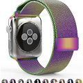 Leefrei Apple Watch Band, Milanese Loop Woven Stainless Steel Mesh with Magnetic Closure Bracelet Replacement Strap for Apple Watch Series 2 Series 1 38mm – Colorful