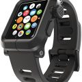 LUNATIK EPIK Polycarbonate Case and Silicone Strap for Apple Watch Series 1, Black/Black
