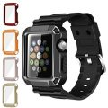 Apple Watch Case Series 1 Series 2, iitee 42mm iWatch Universal Full Armor Case with Connected Apple Watch Band Strap and Screen Protector (5-in-1 kit)