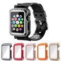 Apple Watch Case Series 1 Series 2, iitee 5-in-1 Universal Full Armor Case and Band Strap with Screen Protector for Apple Watch 38mm
