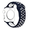 Hailan Band for Apple Watch Series 1 Series 2,Soft Durable Sport Replacement Wrist Strap for iWatch,38mm,S/M,Blue / White