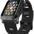 LUNATIK EPIK Aluminum Case and Silicone Strap for Apple Watch Series 1, Black/Black