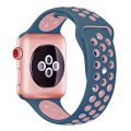 Hailan Band for Apple Watch Series 1 Series 2 Series 3,Soft Durable Sport Silicone Replacement Wrist Strap for iWatch,38mm,S/M,Light Pink / Midnight Blue