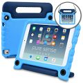Apple iPad Mini 4 case, [World's First Anti Microbial Case for Kids] PURE SENSE BUDDY Rugged Children Protective Carry Cover + Shoulder Strap, Handle, Stand, Cleaning Liquid, Screen Protector (Blue)