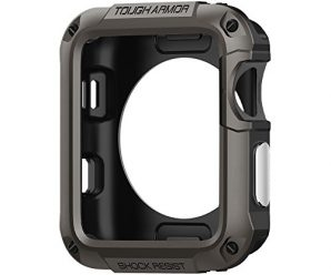Spigen Tough Armor Apple Watch Case with Extreme Heavy Duty Protection and Built In Screen Protector for 42mm Apple Watch Series 3 / Series 2 / 1 / Original (2015) – Gunmetal