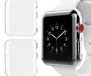 [2 Pack] Apple Watch 42mm Series 3 Case, NSR New Design Slim PC Hard Screen Protector Cover Case for New Apple Watch Series 3 42mm 2017 Release – Clear