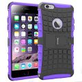 iPhone 6 Plus Case,[Armor Tire] Heavy Duty Protection Rugged Hybrid Dual Layer Shockproof Case Protective Cover for Apple iPhone 6 6S Plus 5.5 Inches with Built-in Kickstand (Purple)