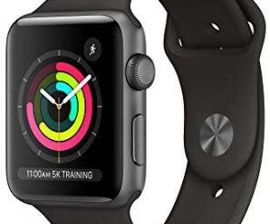 AppleWatch Series3 (GPS, 42mm) – Space Gray Aluminum Case with Black Sport Band