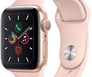 Apple Watch Series 4 (GPS, 40MM) – Gold Aluminum Case with Pink Sand Sport Band (Renewed)