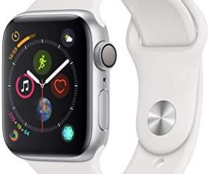 AppleWatch Series4 (GPS,40mm) – Silver Aluminum Case with White Sport Band